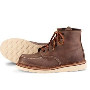 Red wing 6in Moc Toe boots